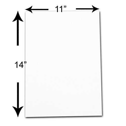 TheDisplayGuys 10-Pack Uncut Acid-Free Picture Mat Backing Boards - 11x14 - White - for Photography, Art & Craft