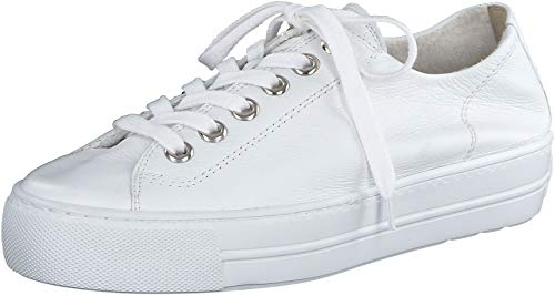Paul Green Damen SUPER Soft Halbschuhe, Damen Low-Top Sneaker,Halbschuhe,straßenschuhe,Freizeitschuhe,Plateausohle,Ladies,Weiß (018),38 EU / 5 UK