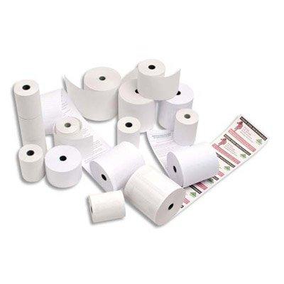 Pack de 20 bobines thermiques 80x80x12, sans BPA, pour caisse enregistreuse
