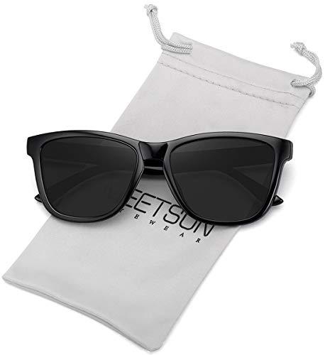 MEETSUN Polarisierte Sonnenbrille für Damen und Herren, klassischer Retro-Stil