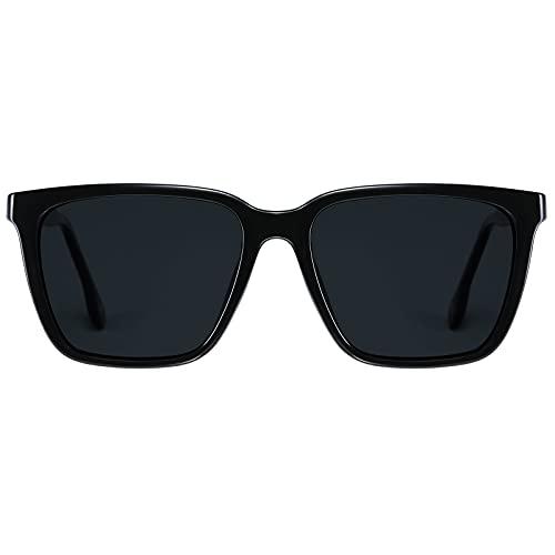 H HELMUT JUST Gafas de Sol para Hombre Rectangulares Polarizadas Clásico TR90 y Acetato