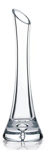 Garbanzo-Shop, Vase aus Glas, Höhe 25cm für Einzelblumen (Rosen) oder kleine Gebinde, Glasvase
