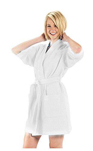 By Lora Kimono für Damen, Oberschenkellänge XX-Large weiß