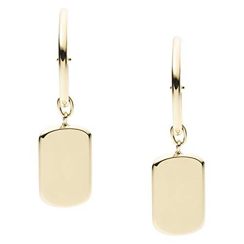Fossil Gold-Tone Stainless Steel Hoop Earrings, Standard (JF03420710)