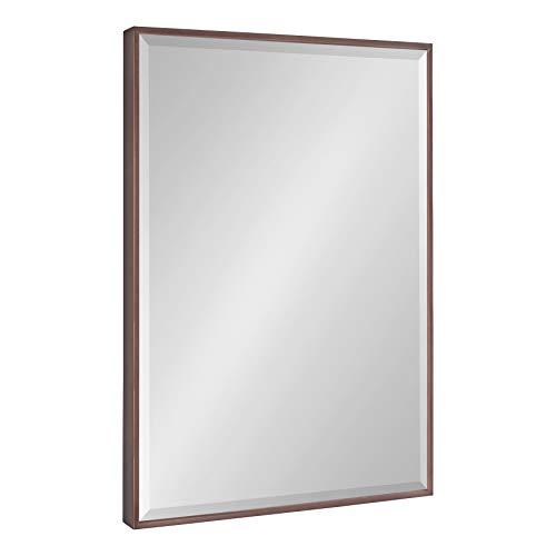 Kate and Laurel Rhodes Modern Wall Mirror, 22.75 x 28.75, Bronze, Decorative -