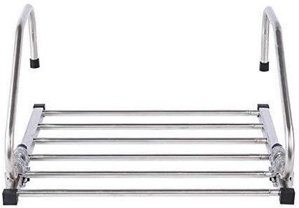 LLT Cuarto de baño toalla estante, barra de toalla, toallero, anillo, colgante de rack de secado de acero inoxidable Radiador doblar la ropa de lavandería longitud ajustable (44~82 cm) o cubierta d