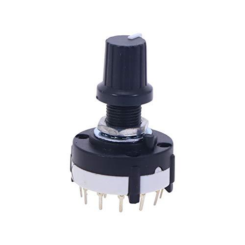 Kfdzsw Giratorio Interruptor 1pc, 3p4t 3 Poste 4 Posición Solector de Banda de oblea Individual Securador Giratorio