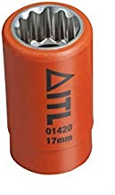Insulated Tools Ltd 01340, pomarańczowy, 9 mm Socket-1/2 cala Sq DR