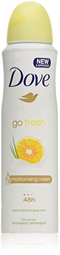 (2 PACK) DOVE Dry Spray Antiperspirant 48 hours, (Go Fresh Grapefruit & Lemongrass) 5oz