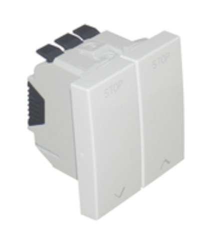 Efapel quadro 45 - Interruptor persiana con enclavamiento mec-2m q-45 blanco