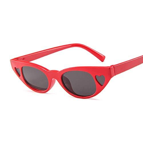 Sonnenbrille Damen Sonnenbrille Damen Sonnenbrille Für Damen Vintage Sexy Eyewear Shades Uv400-Redgray