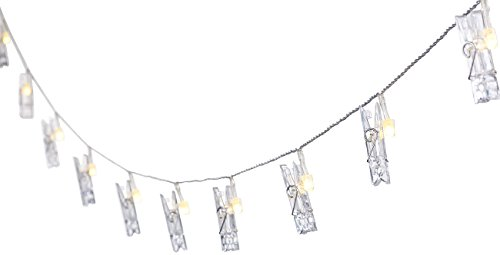 Lunartec Bilder Lichterkette: LED-Foto-Clips-Lichterkette mit 40 Klammern, batteriebetrieben, 10 m (Lichterkette Fotos)