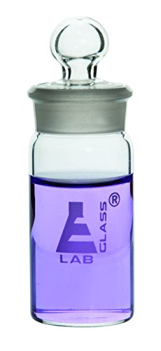 Weighing Bottle, Tall Form, 60ml Capacity, Borosilicate Glass with Interchangeable Ground Stopper - Eisco Labs