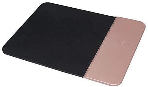 2 in 1 Wireless Charger Mouse Pad,Charging Pad,Qi Fast Wireless Charger Gaming Mouse Mat Slip,Compatible with for iPhone 11 Pro Max XS XR X 8 Plus/Samsung S10/S9,A