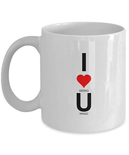 N\A I Love You Code Regalos de San Valentín para él, Novio, Novia, Regalos, Tazas de café, Taza, día de Navidad, cumpleaños, Aniversario, wm3217 (11 oz)