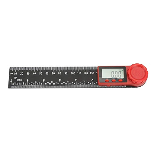 Belika Inclinómetro de ángulo-Acero Inoxidable 360 Grados Instrumento Digital Multifuncional Inclinómetro Herramienta de medición de ángulo(300mm)