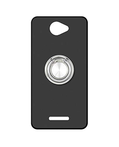 Sunrive Kompatibel mit alcatel Flash Plus 2 Hülle Silikon, 360°drehbarer Ständer Ring Fingerhalter Fingerhalterung Handyhülle matt Schutzhülle Etui Hülle (A2 Silberig) MEHRWEG