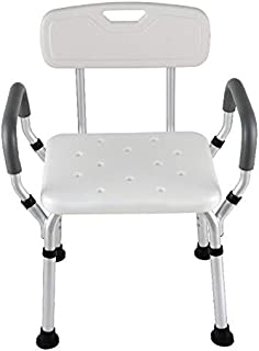 XYLF Taburete de Ducha Silla de baño Silla de baño de Aluminio para Mujeres Embarazadas Asientos de Ducha para discapacitados para Adultos (Size : 48 * 45 * 54cm)