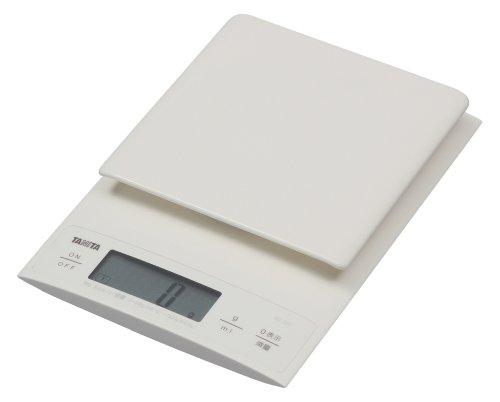 タニタ はかり スケール 料理 3kg 0.1g デジタル ホワイト KD-320 WH