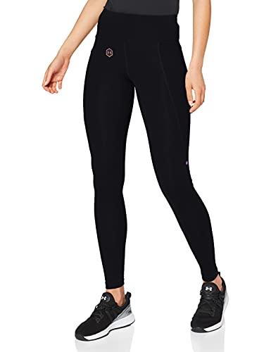 Under Armour Damen Leggings UA Rush, atmungsaktive Trainingshose für Frauen mit Rush-Technologie, Schwarz, XS