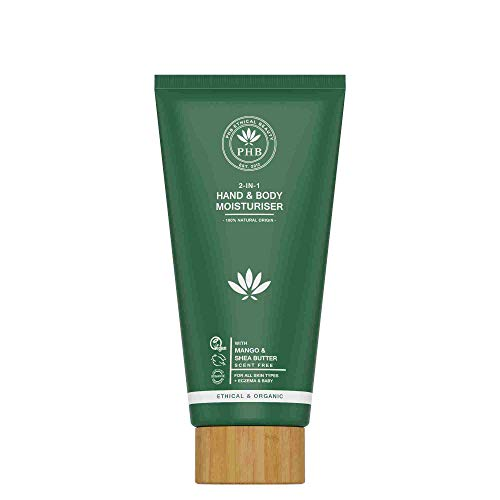 Phb Ethical Beauty Body & Hair 2-in-1 Hand & Body Moisturiser Creme Alle Huidtypen/eczeem/baby 150ml