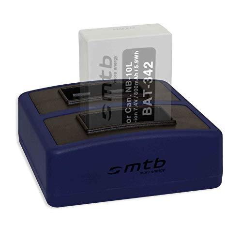 Cargador Doble Compact (USB) para Canon NB-10L / PowerShot G15, G16, G1...