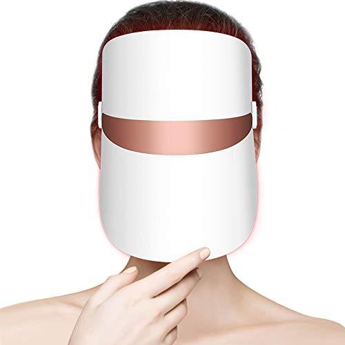 Terapia de luz con máscara LED, removedor de arrugas, tratamiento del acné, estiramiento de la piel, tiempos ilimitados para el tratamiento de la piel, luz roja, naranja, azul individual