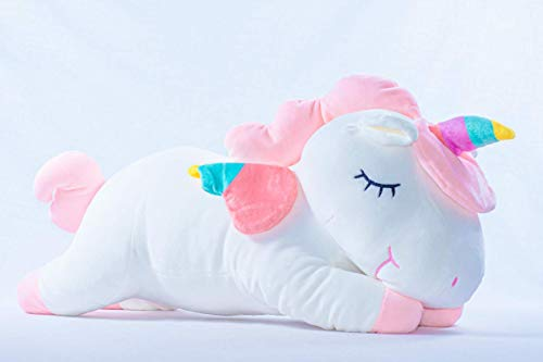 """Large Unicorn Stuffed Animal. Plush Toy 60cm or 23"""". Great Pillow for Sleeping Child. Ecofriendly Cotton Interior. Giant Stuffed Unicorn. Age 1 –12+ yrs. Great Gift for Girls, Soft, Cuddly (Pink)"""