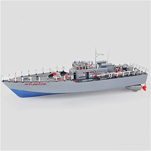 Barco de Carreras de Velocidad, Dispositivos Wtercraft Remote & App-Controled, Toy Toy Boat Toy Boat Modelo de Control Remoto de Cuatro Canales Barco 2877B Torpedo Boat