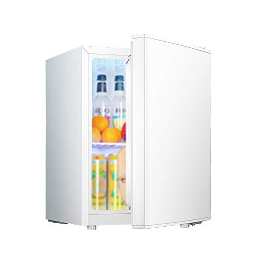 FRIDGE Frigorífico Pequeño Nevera Eléctrica Termostato Regulable Nevera Retro Ahorro De Energía Frigorífico Table Top Silenciosa Mini Nevera con Compresor 48L