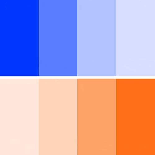 Farbkorrektur-Gel-Filter, 8 Stück, 40,6 x 50,8 cm, Blau / Orange
