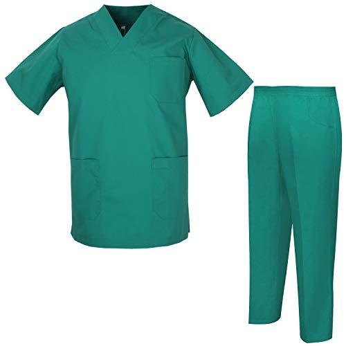 MISEMIYA - Uniformi Unisex Set Camice ? Uniforme Medica con Maglia e Pantaloni Uniformi Mediche Camice Uniformi sanitarie - Ref.8178 - Medium, Camicia Sanitaria 817-3 Verde