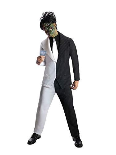 Rubie's Kostüm Two-Face für Erwachsene, DC Bösewicht-Kostüm, Größe L, Brustumfang 106-111 cm, Taille 86–91 cm, Hosenlänge 84cm