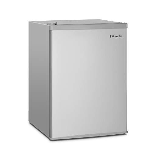 Inventor Mini-Réfrigérateur 66L, Couleur Argent, Classe Énergétique A +, Consommation d'Énergie 109 kWh/an, Faible Niveau Sonore, Low Frost, Porte Réversible, Garantie de 2 ans