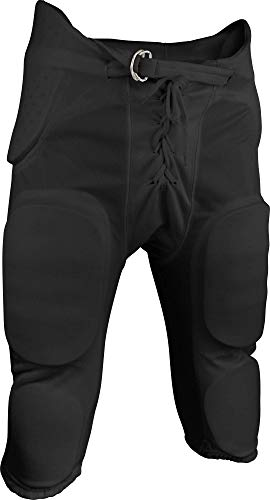 Sports Unlimited Double Knit Youth Integrated Football Pants, Black, Medium