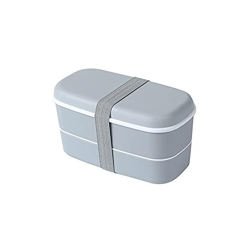 AKAIGH Caja Bento Original Fiambreras De Doble Capa Paquete De Contenedores Divisor Estilo Japonés con Palillos