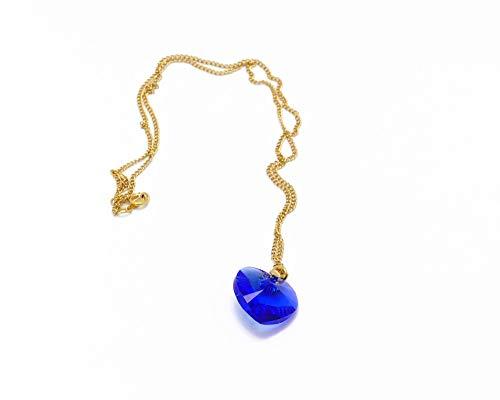 Oro-riempito 14k collana Swarovski oro blu verde viola cuore trifoglio regali personalizzati Natale compleanno gioiello cerimonia matrimonio ospiti festa della mamma damigella d'onore