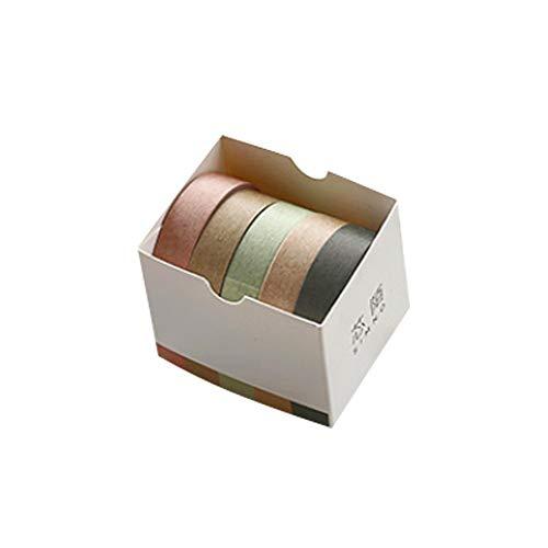 Eudola Einfarbige Serie Klebeband Washi Tape Japanisches Klebeband Multifunktions DIY Dekorative Klebeband Klebeband Geschenk für Student und Tagebuch Schreiben Enthusiasten - Kiefernzweig