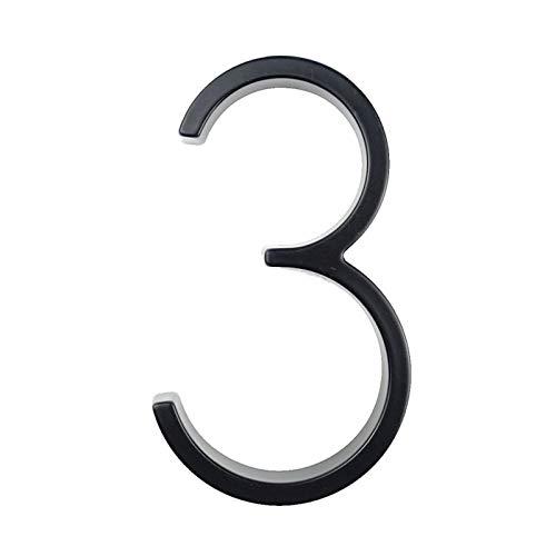 Pilang Zxxin-house number, Digits Zinc Alloy Black House Door Address Sign #3, 127mm Big Modern House Number Door Address Number, Strong and durable