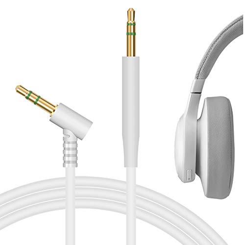 Geekria QuickFit - Cable de Audio Compatible con JBLs Live 400BT, Live 650BTNC, Tune 600BTNC, Tune 700BT, E55BT, E50BT, E45BT, E40BT para Auriculares, 2,5 mm AUX Cable estéreo Repuesto (5,6 pi