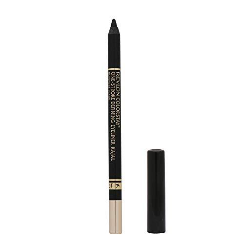 Revlon One-Stroke Defining Eyeliner Kajal, Blackest Black, 1.2g