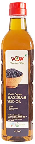 WOW Cooking Oils Certified Organic Virgin Cold Pressed Black...