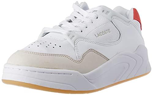 Lacoste Court Slam 0121 1 SFA, Zapatillas Mujer, Wht/Dk Pnk, 40.5 EU