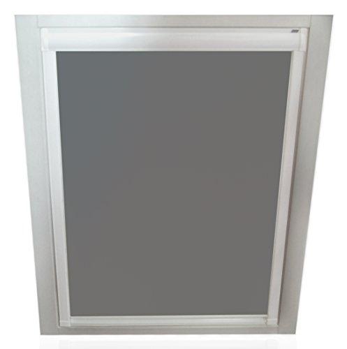 Unbekannt Verdunkelungsrollos für Roto Fenster - Profilfarbe Weiß - Sun Collection (auch mit silbernen Profilen erhältlich)