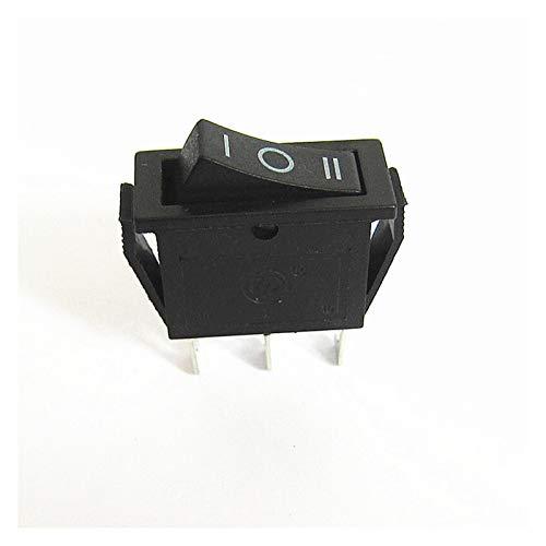 YSJSPKK Interruptor basculante 5pcs kcd3 Interruptor de balancín 15A / 20A 125V / 250V ON-Off-ON 3 POSICIÓN 3 Pin Equipo ELÉCTRICO Interruptor DE Potencia Negro (Color : KCD3)