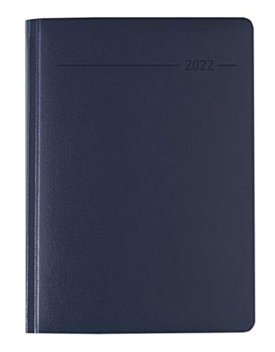 Alpha Edition - Agenda Giornaliera Monocromo 2022, Formato Grande 15x21 cm, Blu, 416 pagine