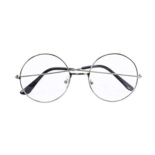KESYOO Óculos Redondos Prata Retrô Óculos Bloqueadores de Luz Azul Óculos Anti-Luz Azul Proteção Contra Luz Azul Óculos de Leitura para Computador para Jogos para Homens