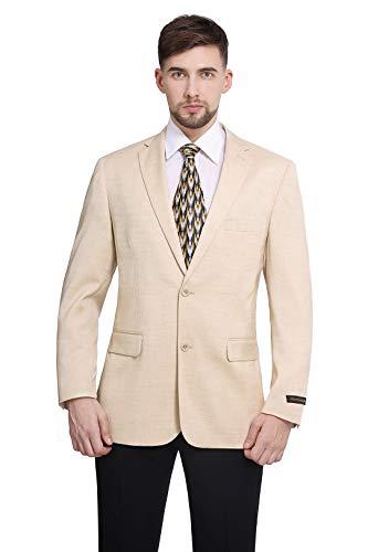 P&L Men's Classic Fit Two-Button Stretch Blazer Suit Separate Jacket