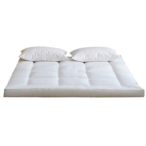 GGYDD Quilted Fitted Mattress Pad,Thick Ultra Soft Bed Mattress Topper,Fluffy Foldable Tatami Mattress,Student Dormitory Mattress