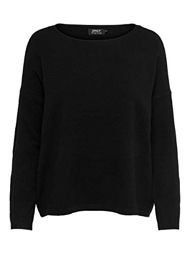 Only ONLBRENDA L/S Pullover KNT Noos suéter, Negro (Black Black), X-Small para Mujer